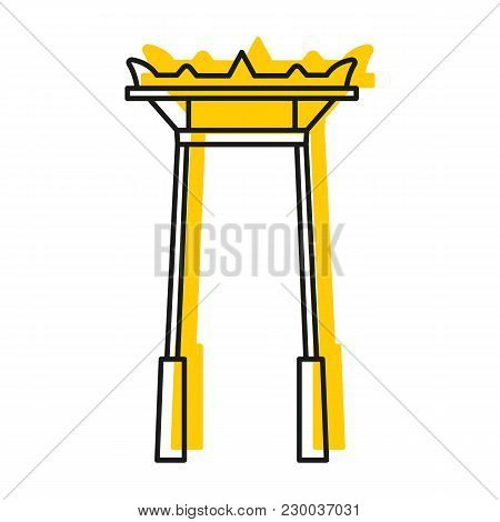 Giant Swing Icon. Doodle Illustration Of Giant Swing Vector Icon For Web And Advertising