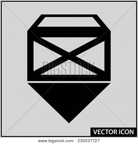Vector Icon Of Postal Service In The Form Of A Parcel