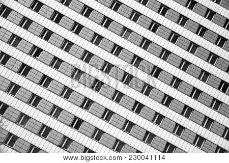 Windows and wall of modern building. Abstract architectural background.