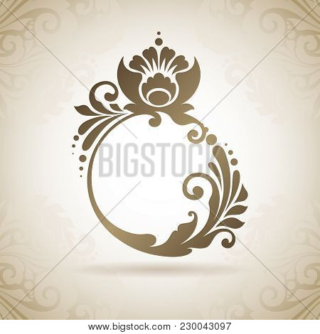 Ornate Flourish Calligraphic Ring. Design Element For Logo Template, Business Sign, Identity For Bou