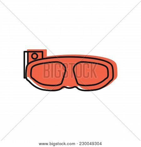 Virtual Reality Glasses Icon. Doodle Illustration Of Virtual Reality Glasses Vector Icon For Web And
