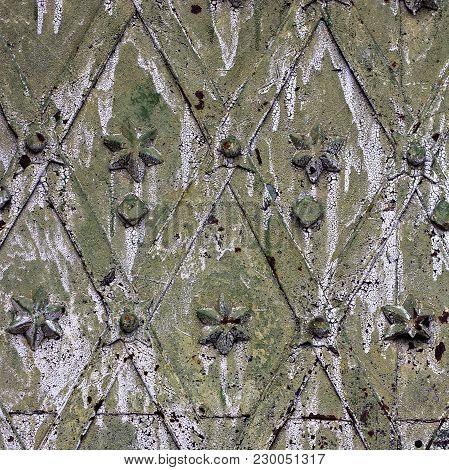 Aged Iron Texture Tiles.    Metal Texture Pattern