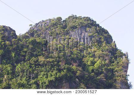 Picturesque Rocks Of The Railay Peninsula, Krabi, Thailand