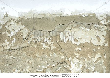 The Texture Of The Plastered Wall Is Yellow In High Resolution. Textures Mapping For Computer Graphi