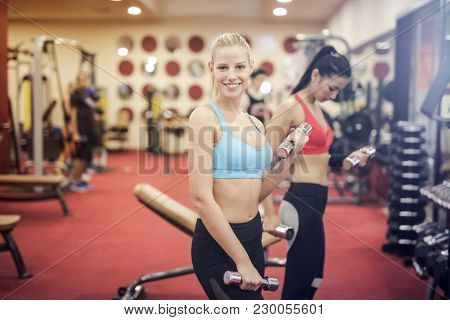 Girls at the gym