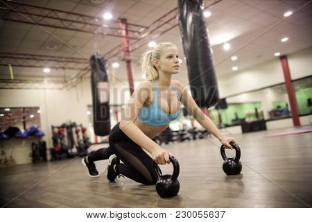 Hard training at the gym