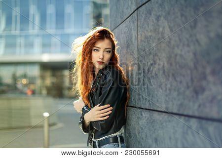 Portrait of urban girl