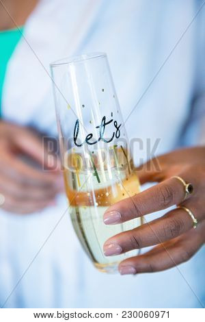 Let's Party Champagne Flute