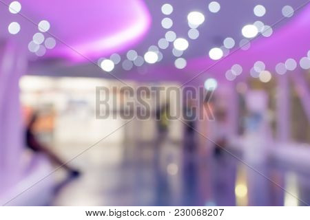 Abstract Blurred Bokeh Or De Focused At Shopping Mall