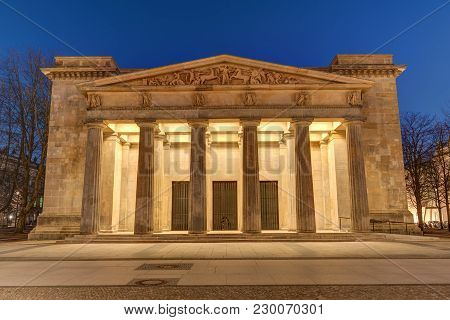 The Neue Wache In Berlin, The Central Memorial Of The Federal Republic Of Germany For The Victims Of