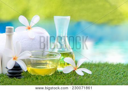 Thai Spa Massage Compress Balls, Herbal Ball And Treatment Spa, Relax And Healthy Care With Flower N