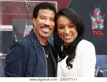 Lisa Parigi and Lionel Richie at Lionel Richie Hand And Footprint Ceremony held at the TCL Chinese Theatre in Hollywood, USA on March 7, 2018.