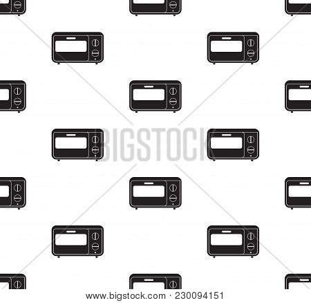 Oven Icon Vector Illustration. Flat Sign Seamless On White Background.