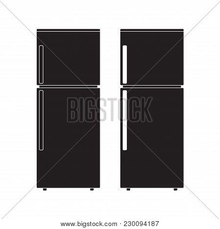 Refrigerator Icon Vector Illustration. Flat Sign Isolated On White Background.