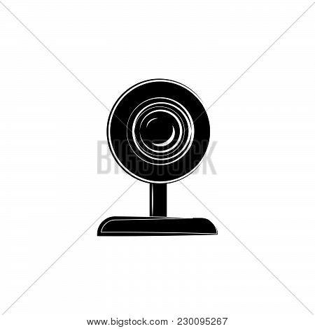 Webcam Icon Vector Black On White Background