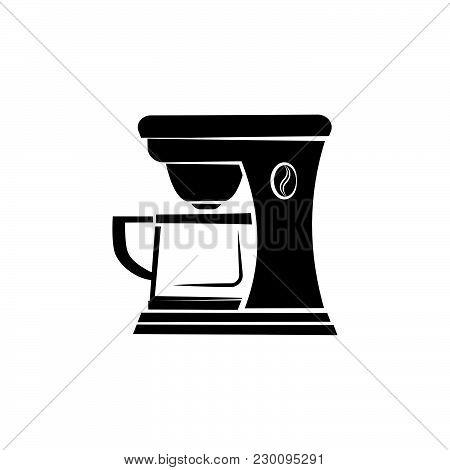 Coffee Maker Icon Black On White Background