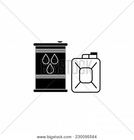 Fuel Icon. Can With Fuel Icon Black On White Background