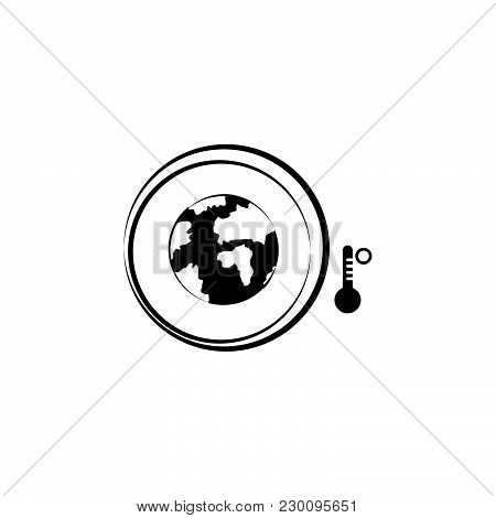 Global Warming Sign. Global Warming Icon Black On White Background