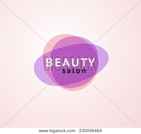 Vector Abstract Transparentlogo For Beauty Salon - Beauty, Spa, Yoga Symbols In Light Colors Isolate