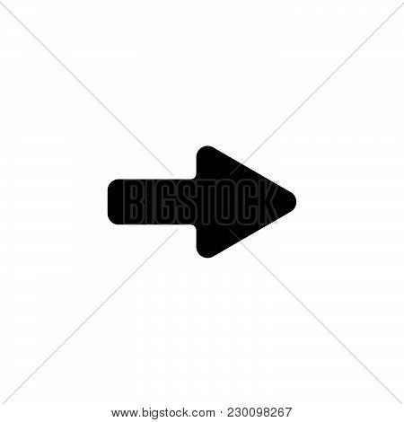 Web Line Icon. Arrow Right Black On White Background