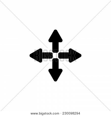 Web Line Icon. Arrows (left, Right, Up, Down)
