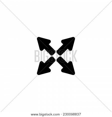 Web Line Icon. Arrows Black On White Background