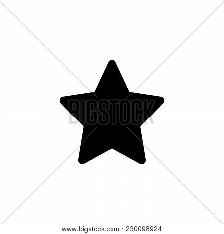 Web Line Icon. Star (favorit) Black On White Background