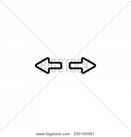 Web Line Icon. Arrows Right - Left Black On White Background