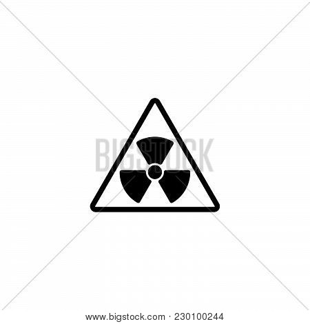 Web Icon. Radiation Hazard Black On White Background