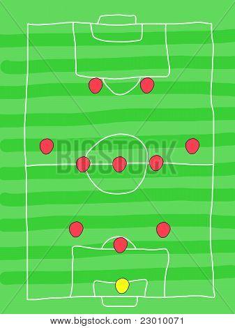 Soccer formation