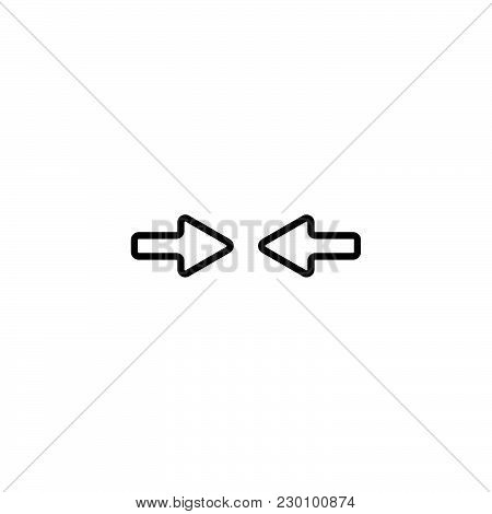 Web Line Icon. Left And Right Arrows