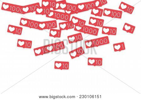 Social Media Counters. Like Background. Social Network Icons. Smm, Digital Marketing, Advertising, A