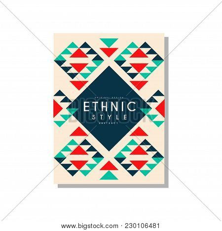 Ethnic Style Abstrat Original Design, Ethno Tribal Geometric Ornament, Trendy Pattern Element For Bu