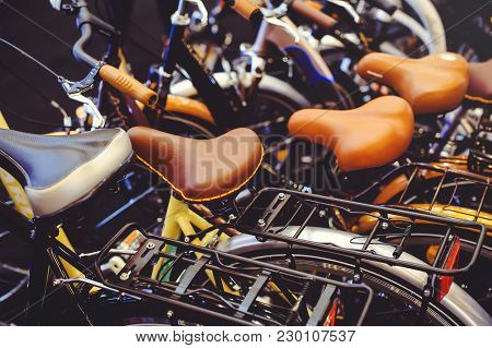 Sale Of Bicycles View Of The Seat, Bicycle Parking Healthy Way Of Life