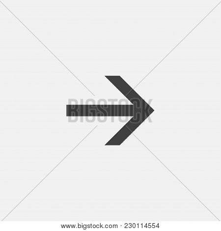 Direction Arrow Icon Vector Illustration. Arrow Icon