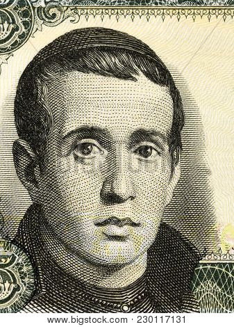 Jaime Balmes Portrait From Spanish Money - Pesetas