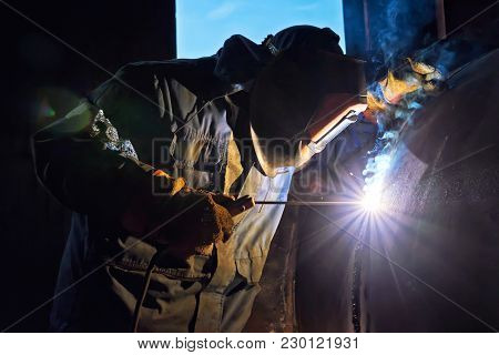 The Welder Is Gaining Increased Cladding Weld