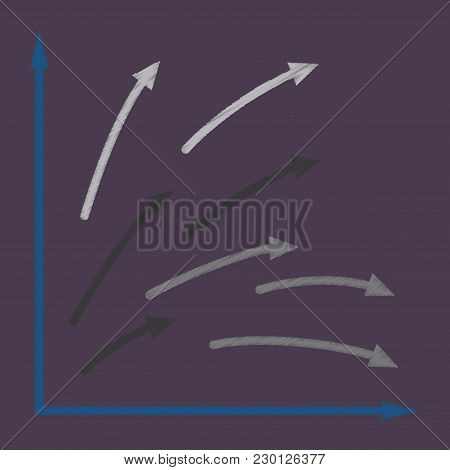 Flat Shading Style Icon Arrows Group Sign