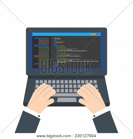 Html Code Website  Vector & Photo (Free Trial) | Bigstock