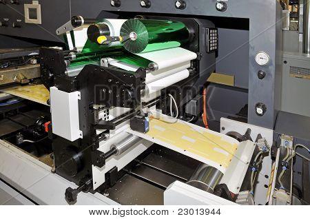 Industrial printshop: Flexo press printing