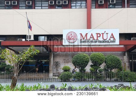 Manila, Philippines - December 7, 2017: Mapua University In Makati City, Metro Manila, Philippines.