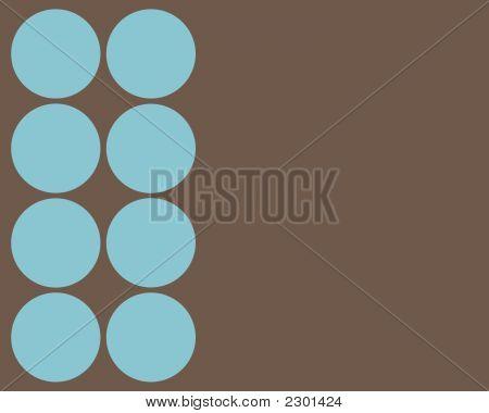Turquoise Circles Border