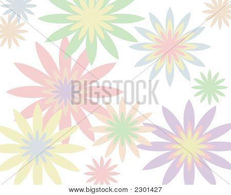 Retro Pastel Floral Background