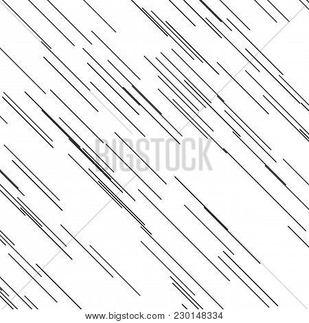 Asymmetrical Texturewith Slanted Lines Of Different Length And Thickness, Abstract Geometric Pattern