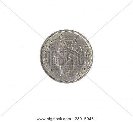 Obverse Of Quarter Rupee Coin Made By Mauritius 1950