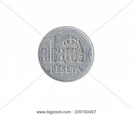 Vintage One Peseta Coin Made By Spain 1986