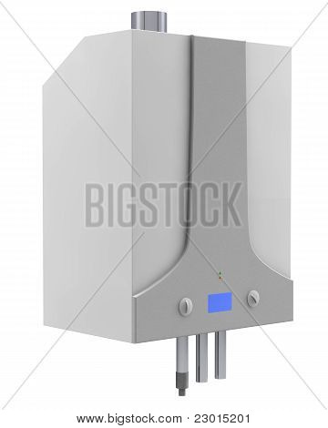 Gas boiler isolated on a white background poster