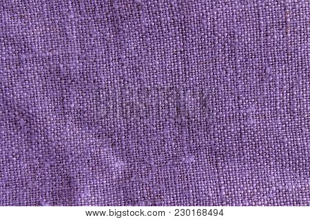 Purple Linen Natural Texture Or Background For Web Site Or Mobile Devices.