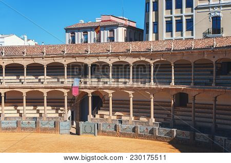 Ronda, Spain - December 2017: Corrida Bullring Arena Of Plaza De Toros