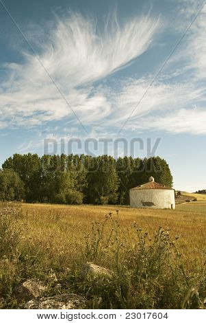 Landscape with dovecot
